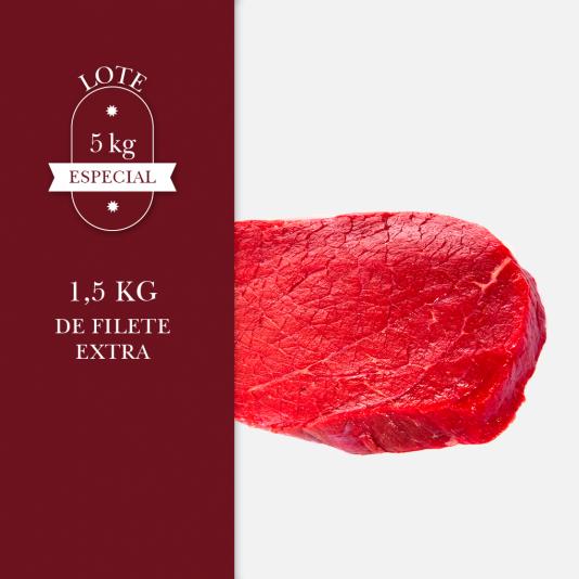 1,5 kg de filete extra perteneciente al lote de 5kg especial