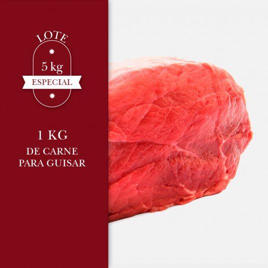 1 kg de carne para guisar dentro del lote de 5kg especial