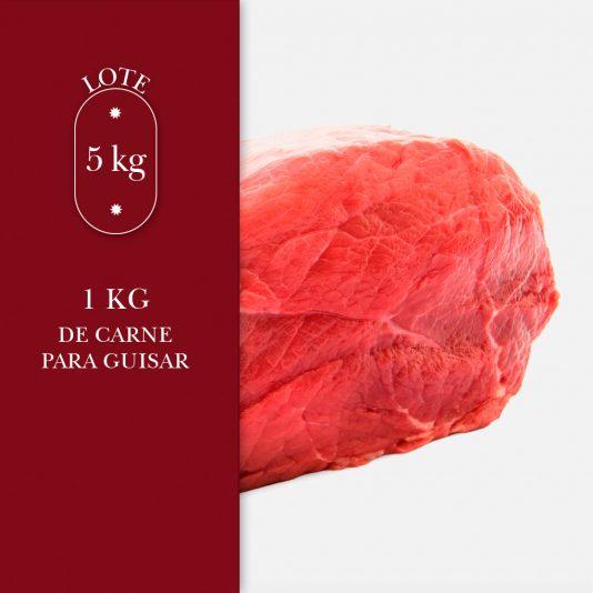 1kg de carne para guisar dentro del lote de 5kg