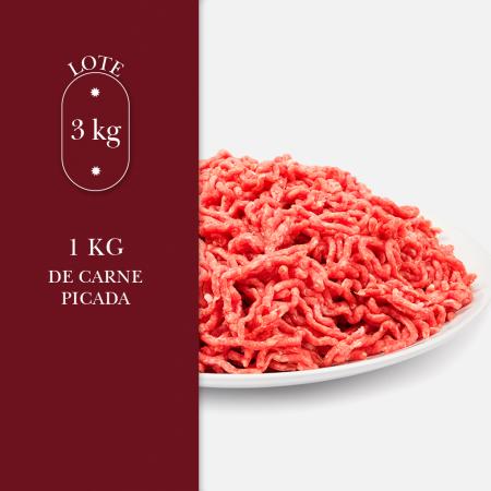 1 kg de carne picada perteneciente al lote de 3kg
