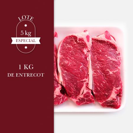 1kg de entrecot de carne madurada en cámara de animales de pasto