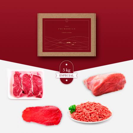 Lote de 5 Kg de carne de Cantabria de bienestar animal, madurada en cámara.